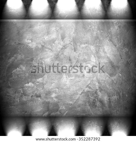 concrete wall with spotlight - stock photo