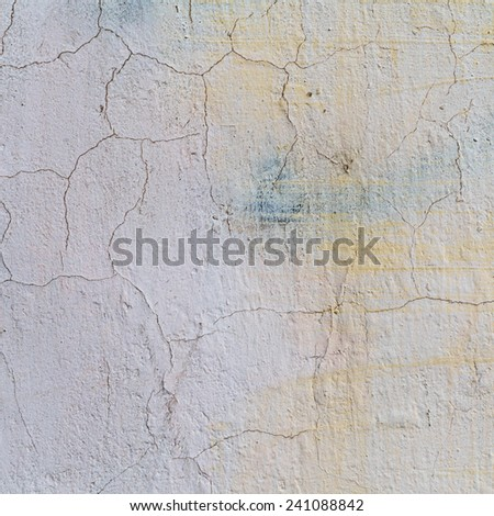 Concrete, weathered, worn, painted white. Landscape style. Grungy Concrete Surface. Great background or texture. - stock photo