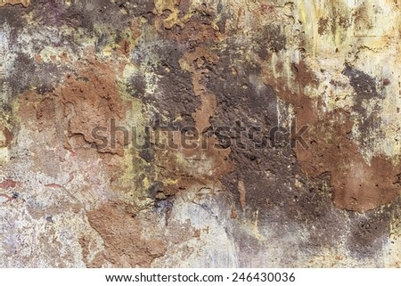 Concrete, weathered, worn, painted white. Landscape style. Grungy Concrete Surface. Great background or texture.