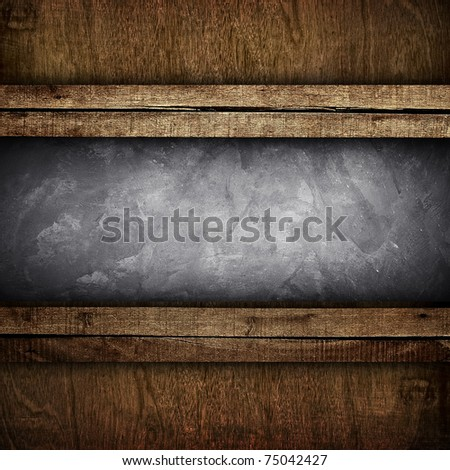 concrete with wooden frame - stock photo