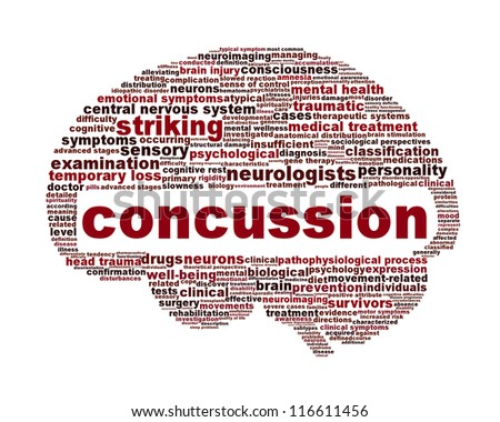 Concussion traumatic injury icon design. Brain injury medical symbol concept