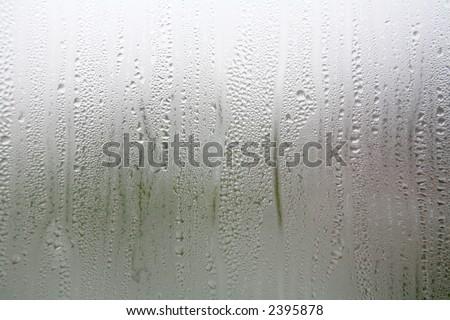 condensation on window - stock photo
