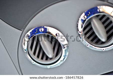 conditioning system inside the bus luxury class - stock photo