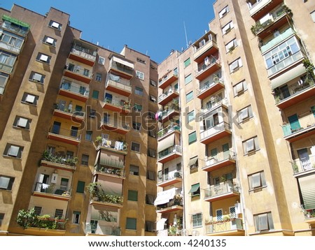 condo building, rent appartments - stock photo