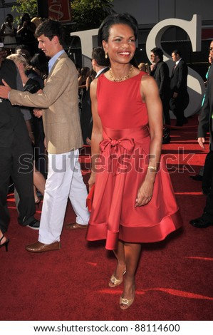 Condoleezza Rice at the 2009 ESPY Awards at the Nokia L.A. Live Theatre, Los Angeles. July 15, 2009  Los Angeles, CA Picture: Paul Smith / Featureflash