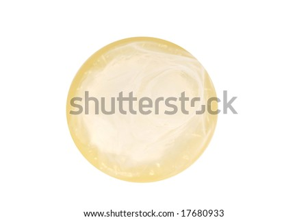 condom isolated (with clipping path) - stock photo