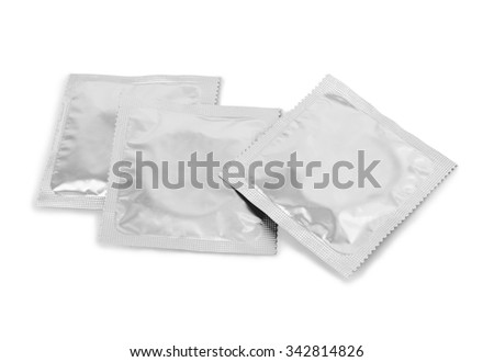 Condoms isolated on a white background