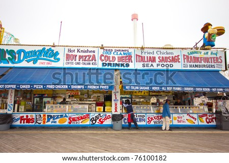 CONEY ISLAND, NY - APRIL 25:  As the season opens, eight Coney Island businesses won the right to stay, at least until November, as the city's new development plan progresses. April 25, 2011, Coney Island, NY - stock photo