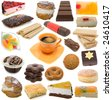 confectionary collection isolated on white background - stock photo