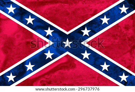 Confederate flag in grunge style