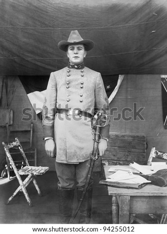 CONFEDERATE OFFICER - stock photo