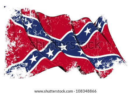 Confederate Rebel flag Grunge - stock photo