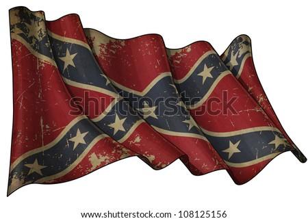 Confederate Rebel Historic flag - stock photo