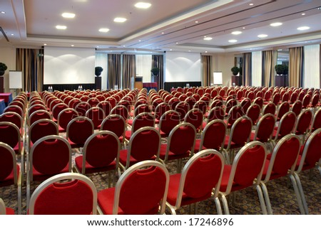 Conference center - stock photo