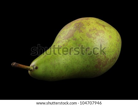 Conference Pear isolated on black - stock photo