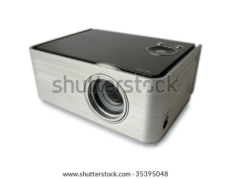 conference projector - stock photo