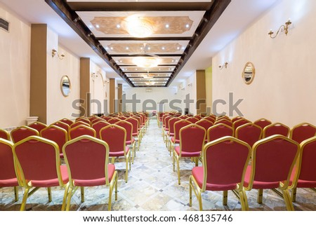 Conference room in hotel interior