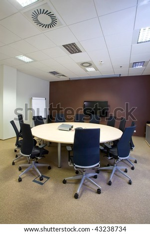 Conference room in modern office building - stock photo