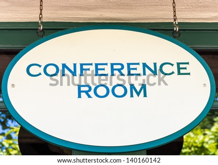 Conference room sign - stock photo