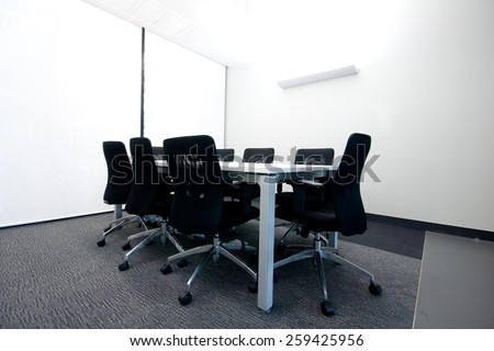 Conference Room Small Size for 8 people - stock photo