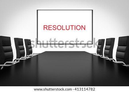 conference room whiteboard business resolution 3d illustration - stock photo