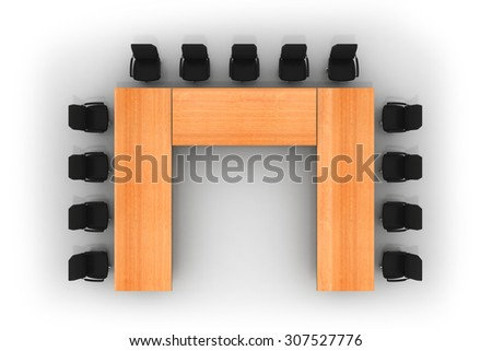 conference table and chairs - stock photo