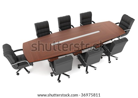 conference table office chairs.3d render