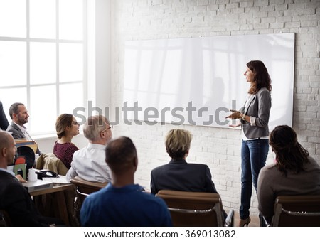 Conference Training Planning Learning Coaching Business Concept - stock photo