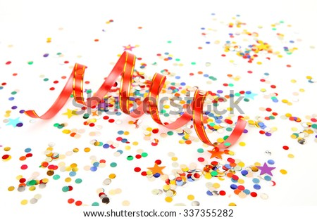 confetti and streamer - stock photo