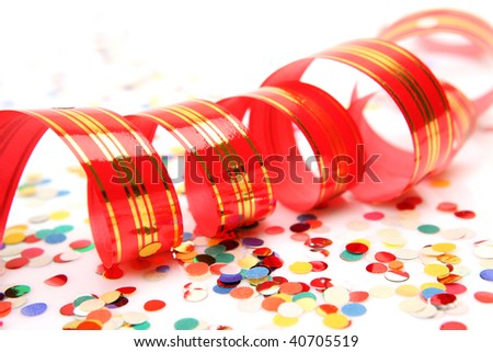 Confetti and streamer