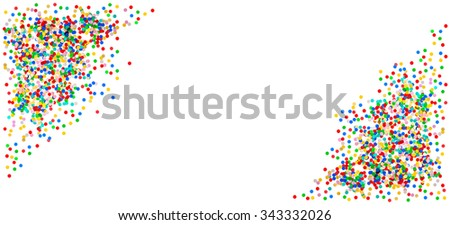 Confetti banner background. Birthday, carnival, holidays party decoration. - stock photo