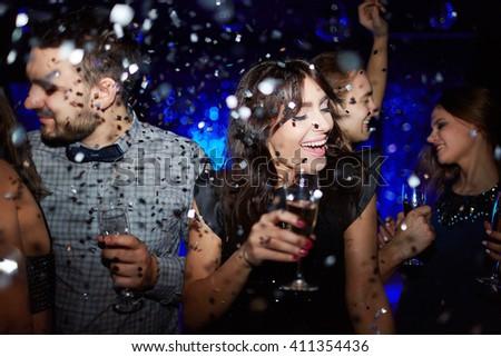 Confetti dance - stock photo