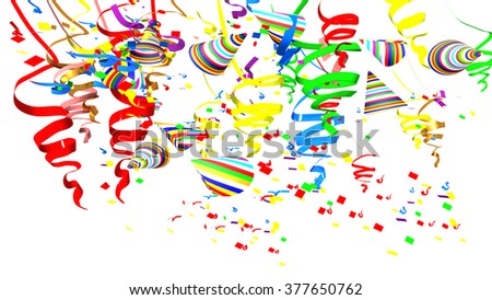 confetti hats, white background , party, carnival