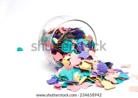 Confetti in a glass - stock photo
