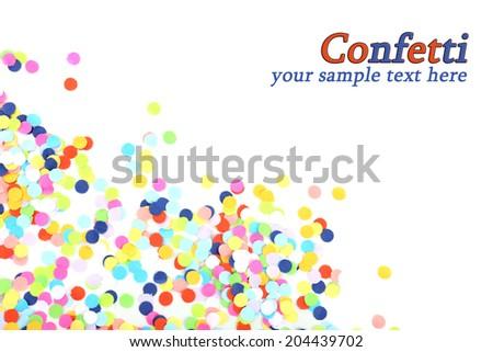 Confetti isolated on white - stock photo