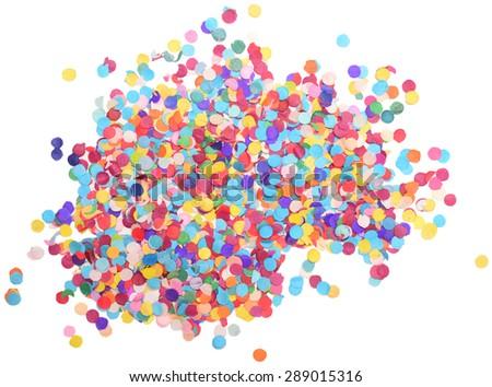 confetti isolated on white background - stock photo
