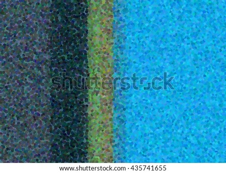 Confetti Striped Background In Bright Turquoise Green Deep Charcoal Gray Color