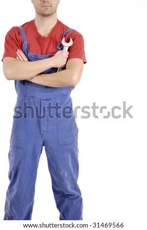 confidence mechanic - stock photo