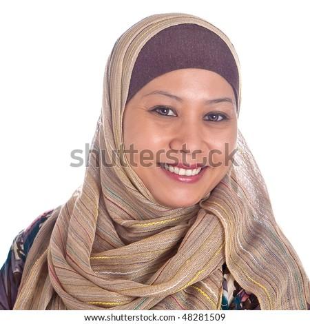 Confident and beautiful mature Muslim woman - stock photo