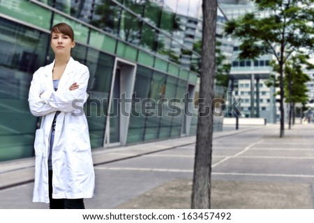 Confident and smart scientist or doctor - stock photo