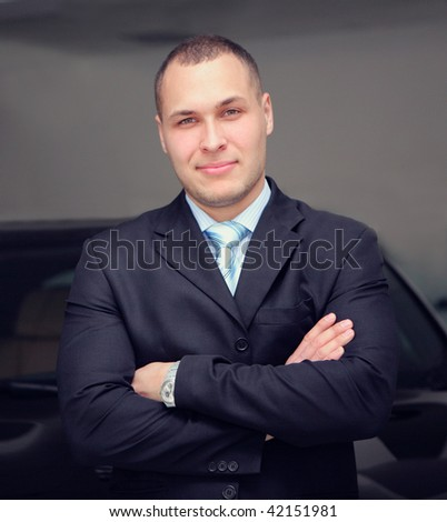 confident and successful businessman - stock photo