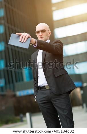 Confident businessman - stock photo