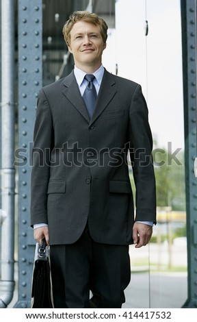 Confident businessman portrait. - stock photo