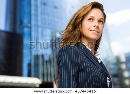 Confident businesswoman portrait outdoor - stock photo