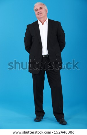 Confident grey-haired businessman - stock photo