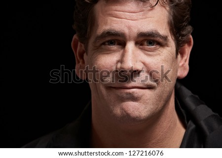 Confident handsome man closeup portrait - stock photo