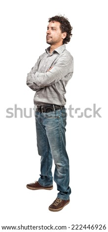 confident man isolated on white background