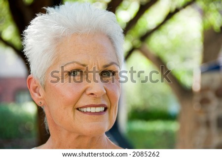 Confident mature woman - stock photo