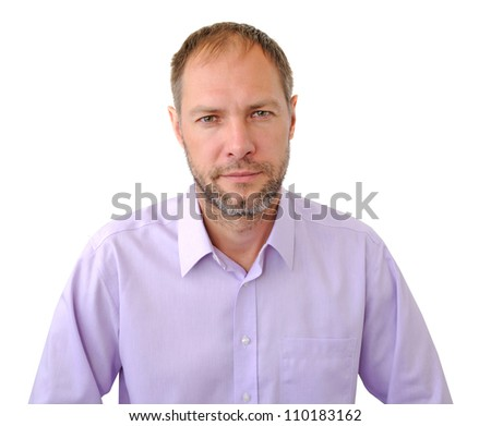 Confident men isolated on the white background
