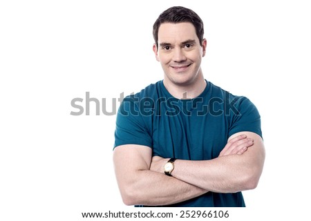 Confident middle aged man with arms crossed